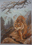 Tiger in the mountains by Melezi