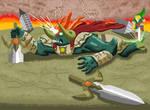 Zelda Oot battle with Ganon