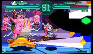 Kirby Planet Robobot Fighting game mockup