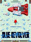 Blue Revolver Akira style arcade mockup