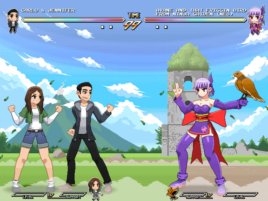 Carlo And Jennifer Vs Ayane And Nes Ng Bird By Scepterdpinoy On Deviantart