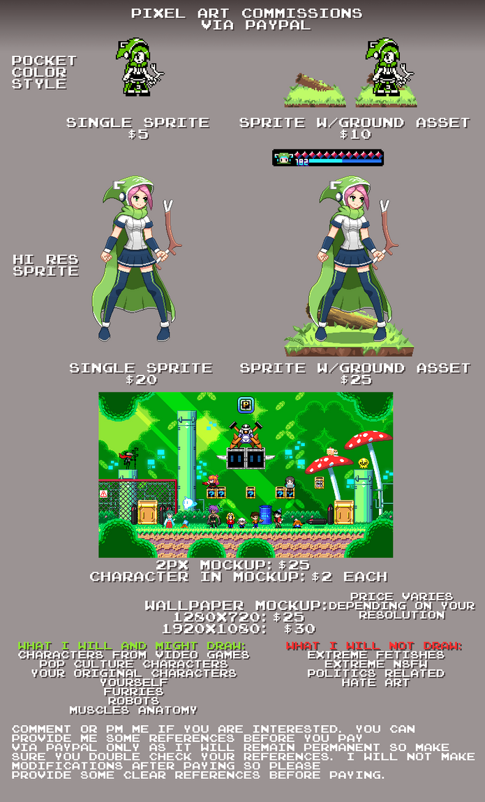 Pixel Art Commission (Paypal only) by ScepterDPinoy