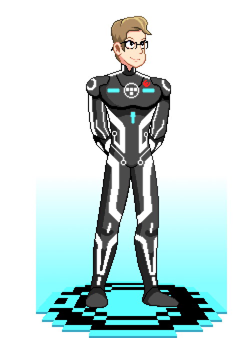 John Retro Reload Tron Commission by ScepterDPinoy