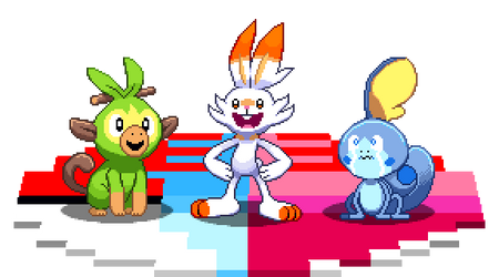 Sword and Shield starters by ScepterDPinoy