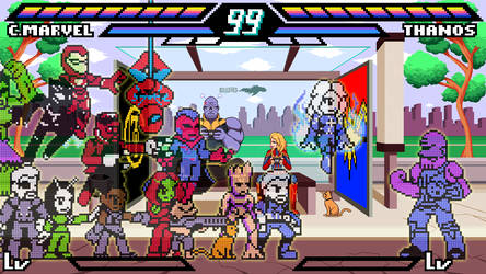 Pixelated Marvel Wallpaper by ScepterDPinoy