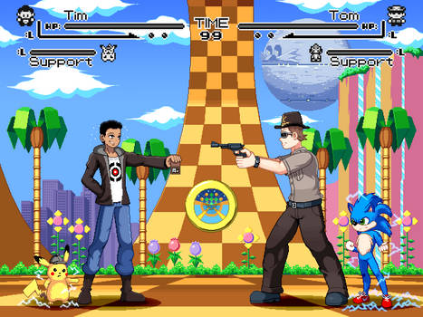 Detective Pikachu vs. Sonic the Hedgehog by ScepterDPinoy