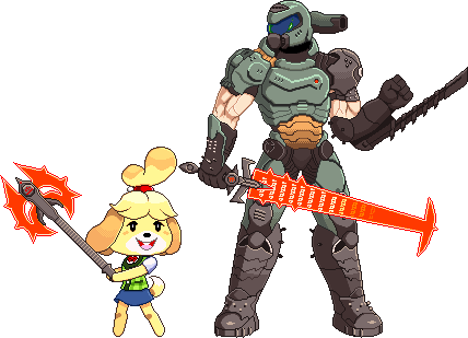 Isabelle And Doom Slayer Suge9 By Scepterdpinoy On Deviantart