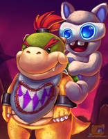 Bowser Jr and Spawny by HG-The-Hamster