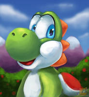 I paint Yoshi when I get bored by HG-The-Hamster