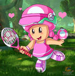 Tennis Toadette by HG-The-Hamster