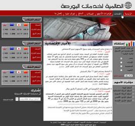 Bourse Web site layout
