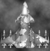 fighter spaceship by kono