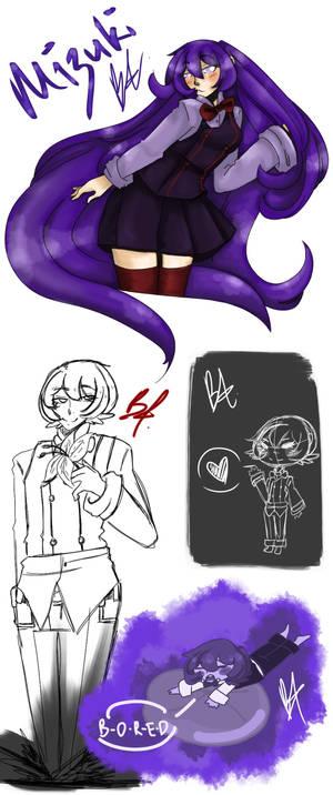 Mizuki Sketch Page by Bassy4ever11