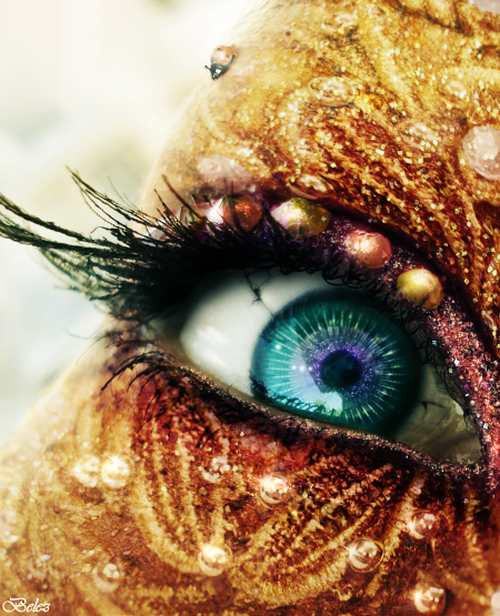 Golden Fairy Eye photo Manipulation