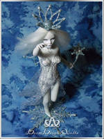 Snow Queen #78  OOAK Sculpure Art Doll by bornbrightdolls