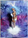 Cotton Candy Bunny Playmate #80  OOAK Sculpure Art