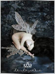 Crystal Winter Fairy #79  OOAK Sculpure Art Doll