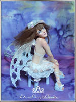 Midnight Dream Fairy #101 OOAK Sculpture by bornbrightdolls
