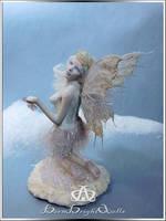 Winter's Frost Fairy #102 OOAK Sculpture by bornbrightdolls