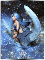 Ice Moon Star Catcher Fairy #103 OOAK Sculpture by bornbrightdolls