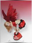 Lucky Valentine Angel Pin Up #107 OOAK Sculpture