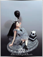 Last Girl Party #108 OOAK Sculpture by bornbrightdolls