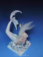 Glacia Icy Mermaid OOAK Sculpture by bornbrightdolls