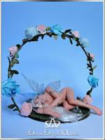 Rose Garden Fairy OOAK Sculpture by bornbrightdolls