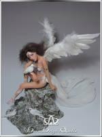 Peace Angel OOAK Sculpture Art Doll by bornbrightdolls