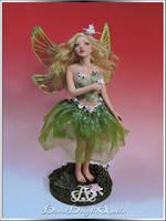 Tinkerbell OOAK Sculpture Art Doll by bornbrightdolls