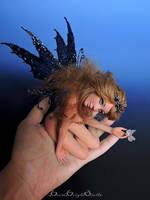 Wild Water Lily Fairy OOAK Sculpture by bornbrightdolls