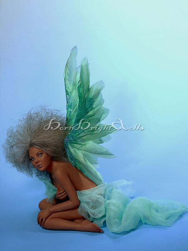Indira-Dragon Angel OOAK Sculpture by bornbrightdolls