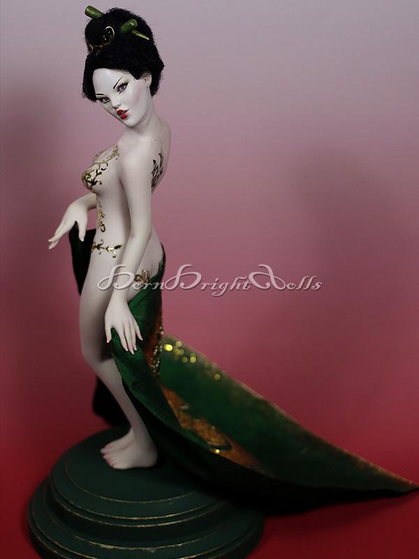 Suini-Dragon Geisha OOAK Scupture by bornbrightdolls