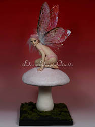 Crissy-Magic Mushroom Fairy OOAK Sculpture by bornbrightdolls