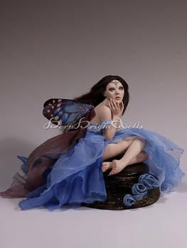 Luelle Chocolate Cake Fairy OOAK Sculpture