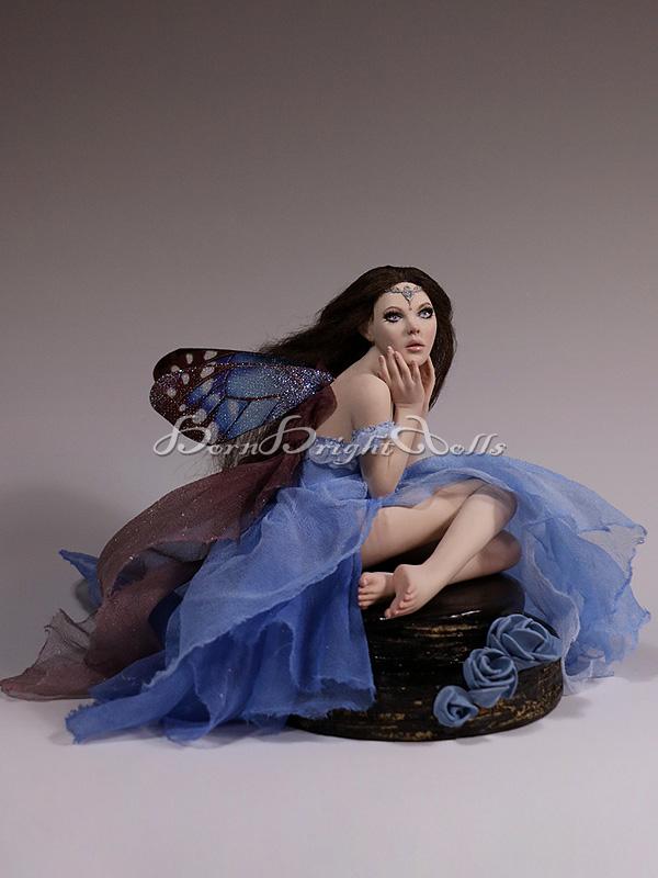 Luelle Chocolate Cake Fairy OOAK Sculpture by bornbrightdolls