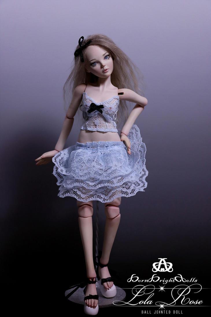 Lola Rose BJD Doll Handmade Polymer Clay by bornbrightdolls