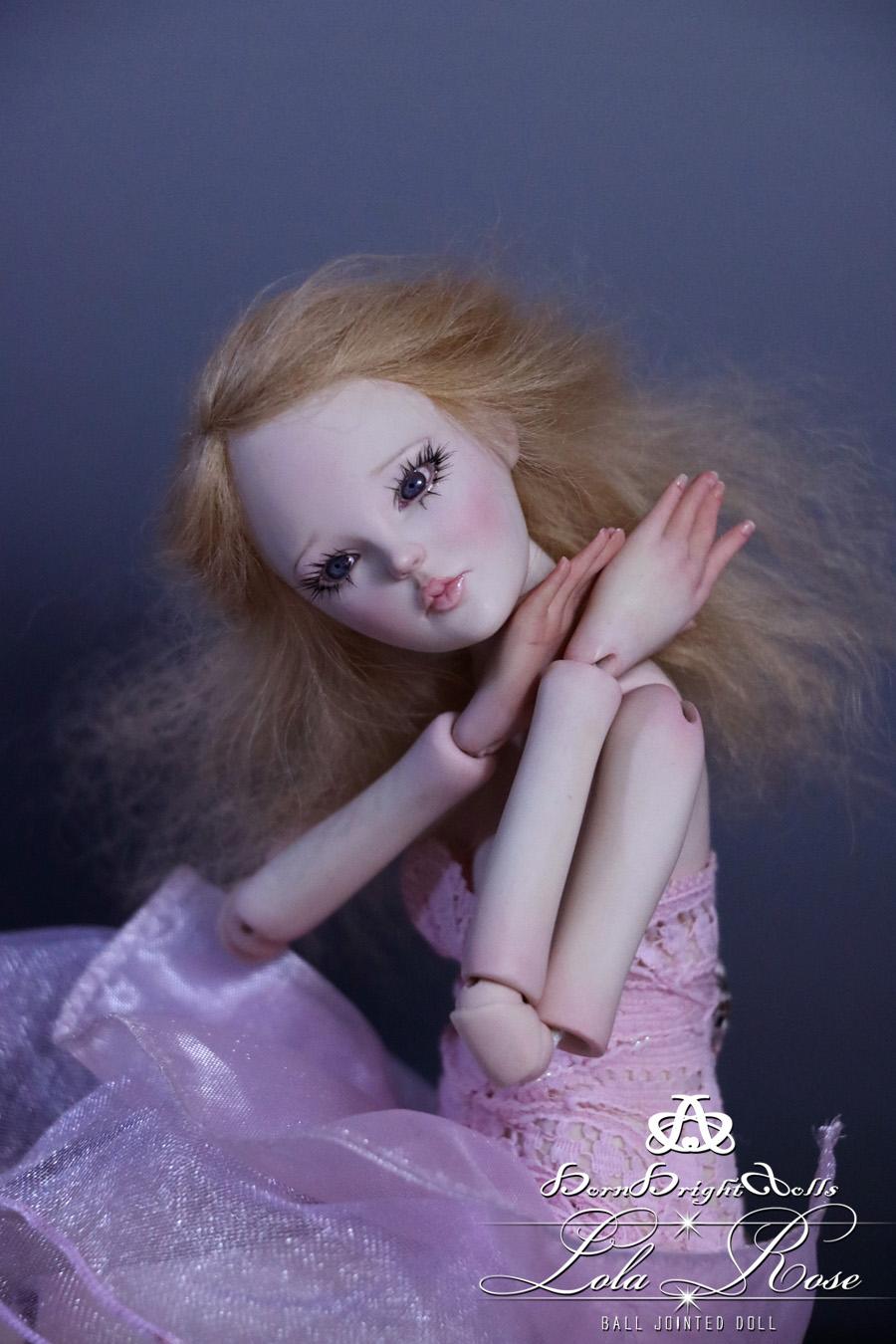 Lola Rose BJD Doll Handmade (Pink Princess) by bornbrightdolls