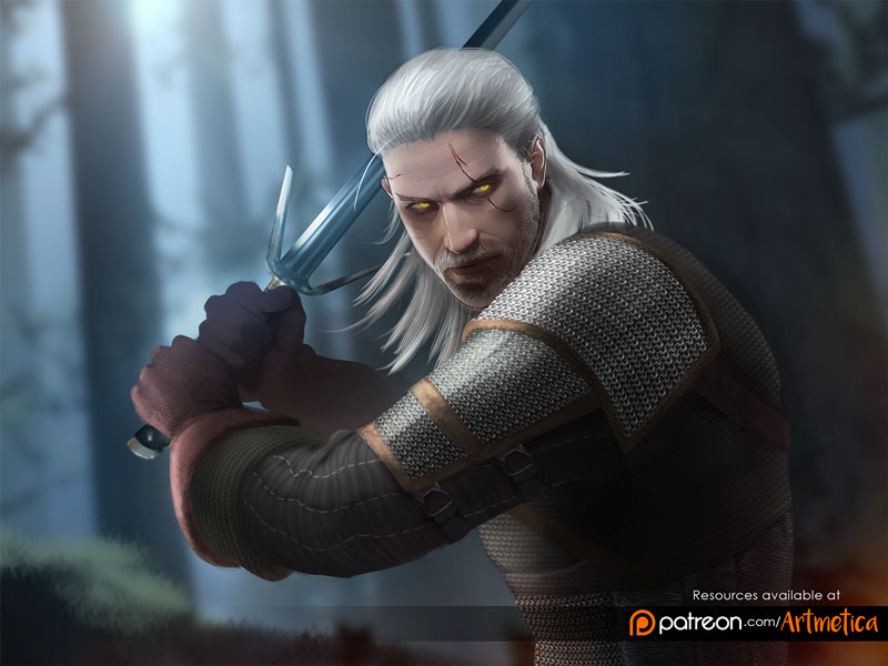 Geralt of Rivia by NaSyu