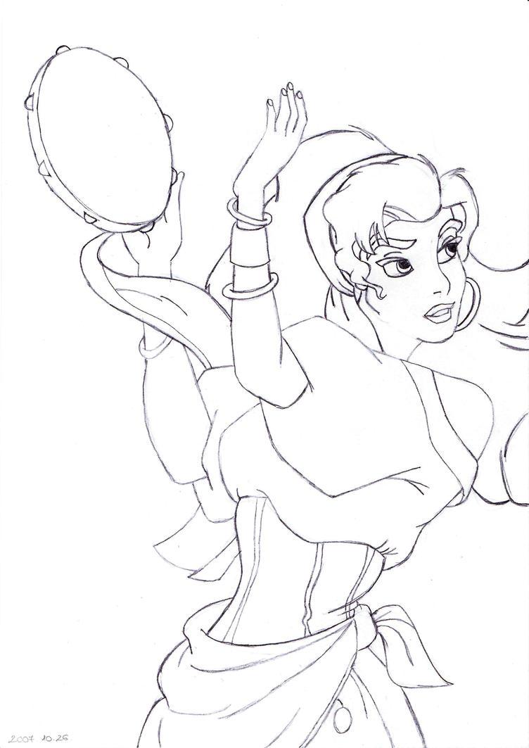 esmeralda coloring pages - photo#16