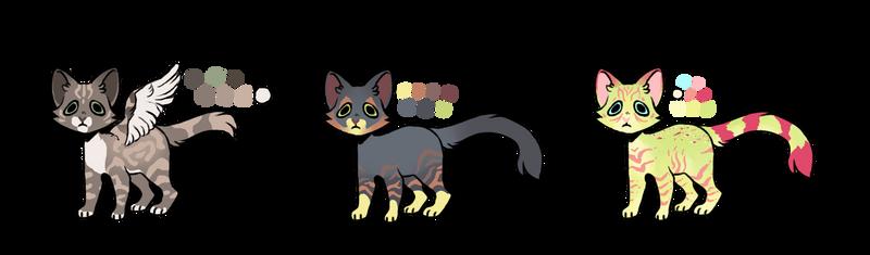 Feline DA point adopts   OPEN by RaidioactiveVampy