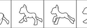 [FREE TO USE] pixel pony galloping base