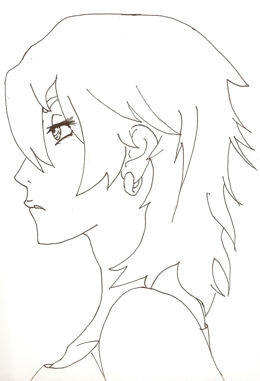Line Art Hair : Red hair line art by amaya on deviantart