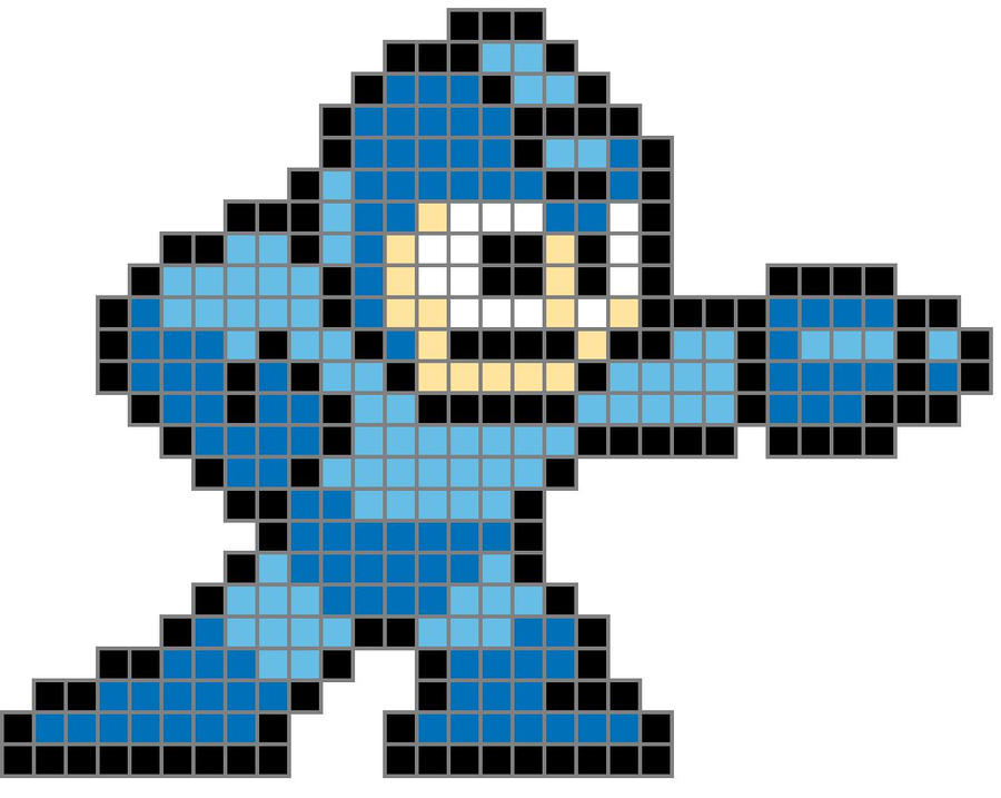 Thebrownfaminaz Megaman Pixel Art Grid
