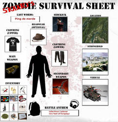 Skaarj's Zombie Survival Sheet by KaelisRan