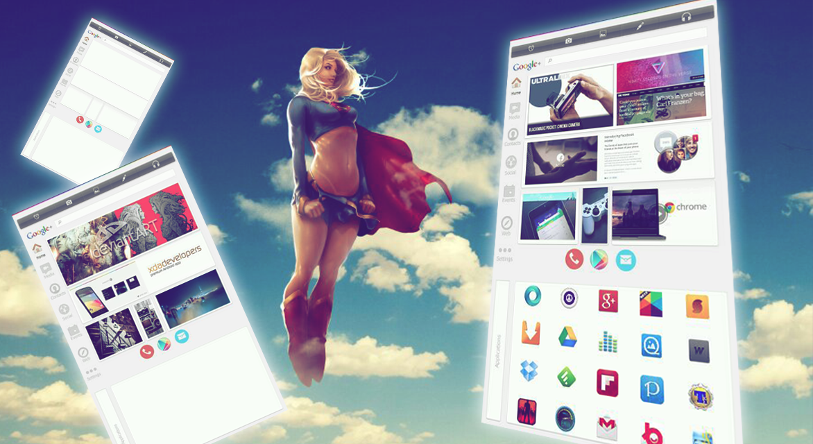 Android +UI v2 *BUZZ LAUNCHER THEME* by synergeticink