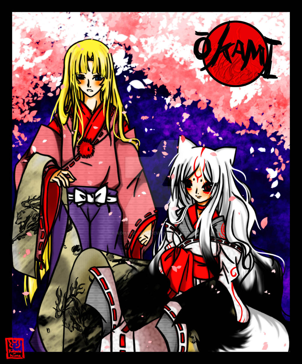 Okami Amaterasu by Kohane-hime on DeviantArt