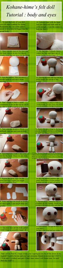 Felt doll tutorial :part 02