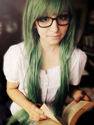 Green hair by CuteStuffLegacy