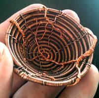 Little Copper Basket Inside